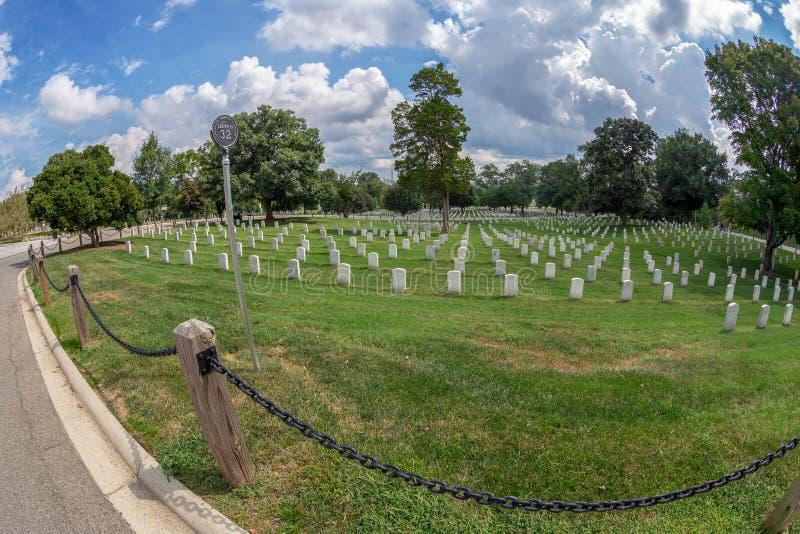 Cementerio nacional de Arlington, los E.E.U.U. imagen de archivo