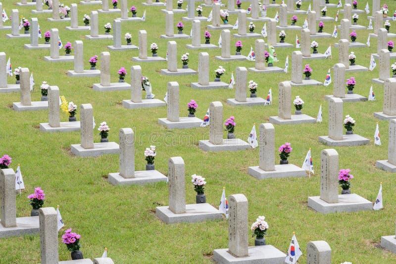 Cementerio nacional de la Corea del Sur fotos de archivo