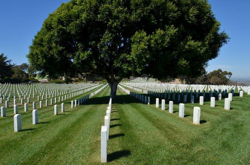 Cementerio nacional de Rosecrans de la fortaleza fotografía de archivo libre de regalías