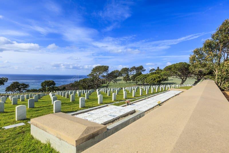 Cementerio nacional de Rosecrans de la fortaleza fotografía de archivo