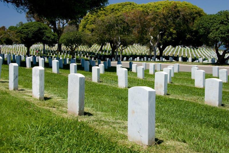 Cementerio nacional de Rosecrans de la fortaleza imagenes de archivo