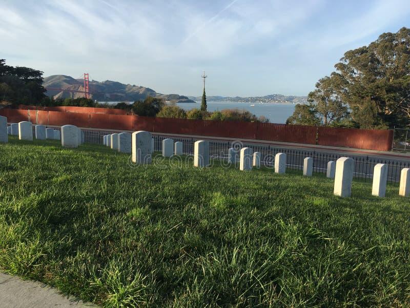 Cementerio nacional, Presidio San Francisco, pasando por alto pacífico puente Golden Gate, 1 fotografía de archivo