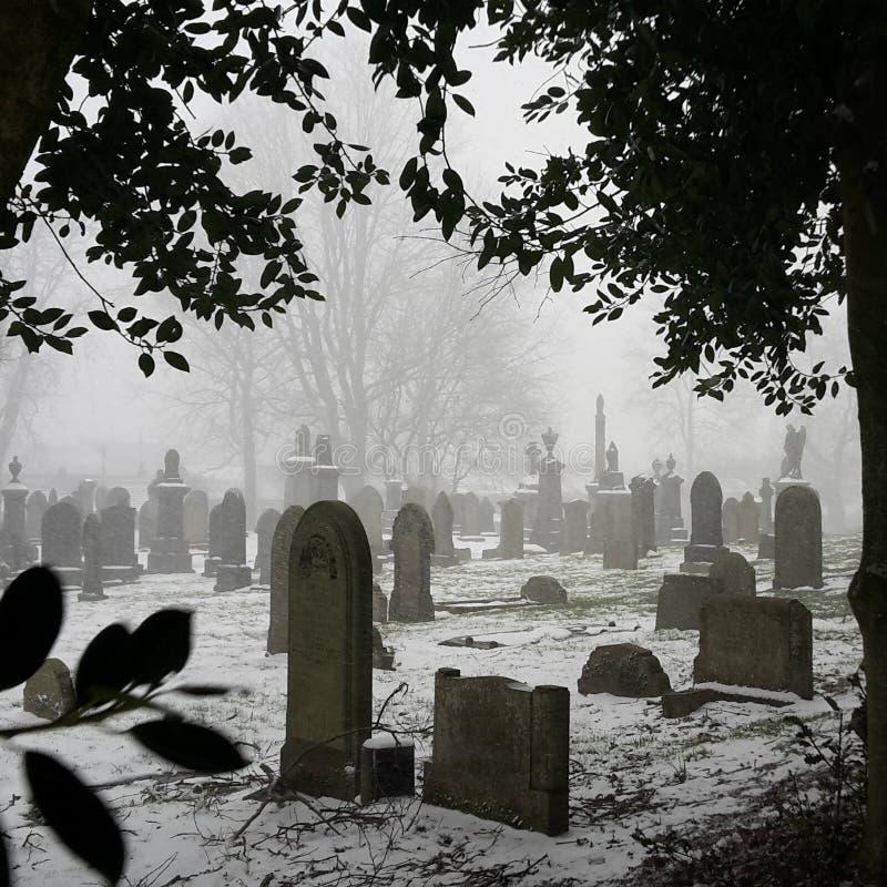 Cementerio Nevado foto de archivo