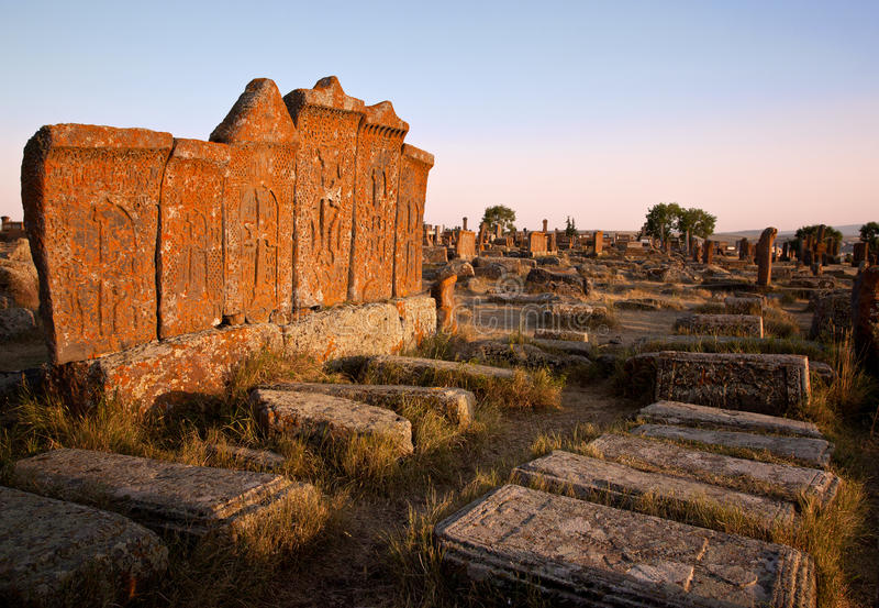 Cementerio Noraduz, Armenia fotografía de archivo