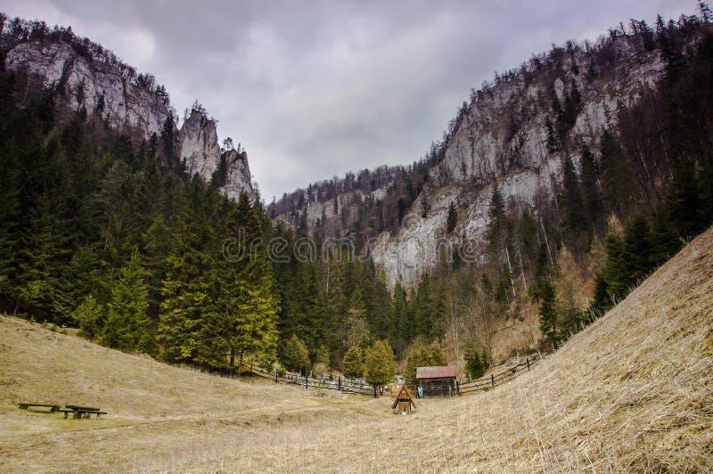 Cementerio ocultado viejo entre las montañas fotografía de archivo