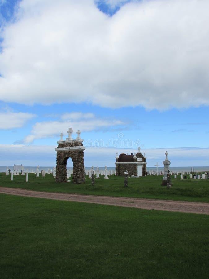 Cementerio por el océano imágenes de archivo libres de regalías