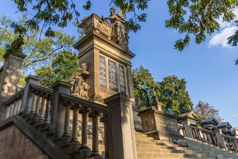 Cementerio viejo de Vysehrad en Praga, República Checa fotos de archivo