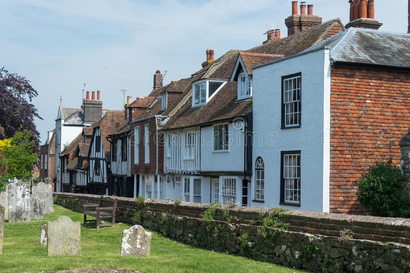 Cementerio viejo en Rye en Sussex del este fotos de archivo libres de regalías