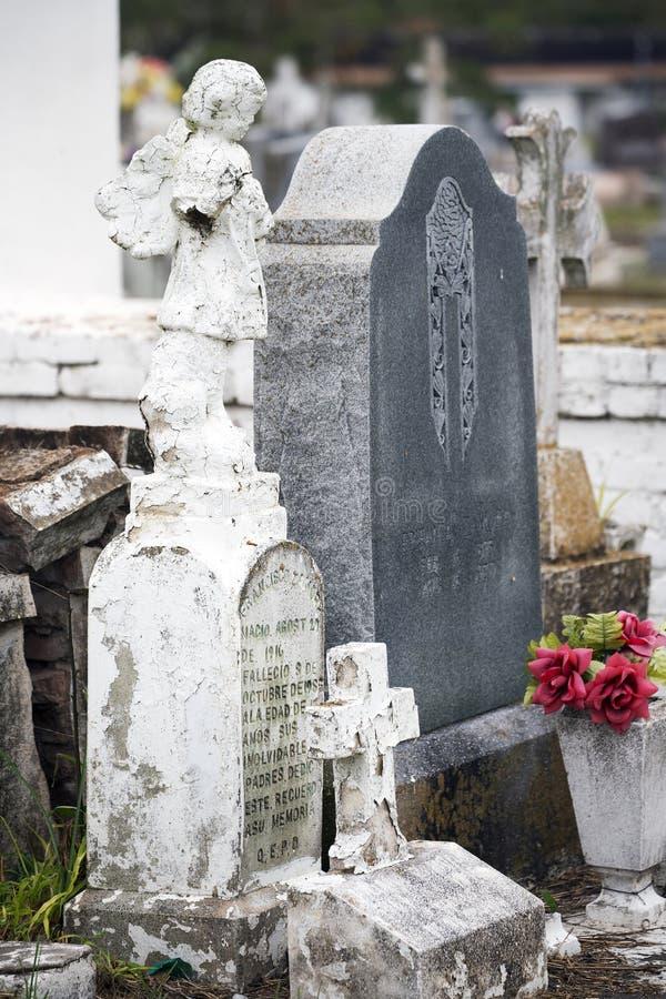 Cementerio viejo histórico de la ciudad en Brownsville, Tejas fotografía de archivo