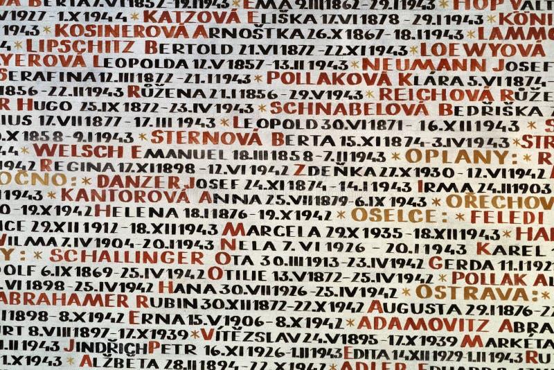 Cementerio viejo judío en Praga fotografía de archivo