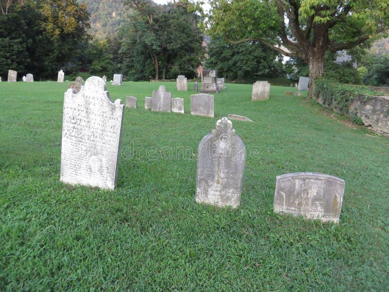 Cementerio viejo, transbordador de los Harpers, Virginia Occidental imagenes de archivo