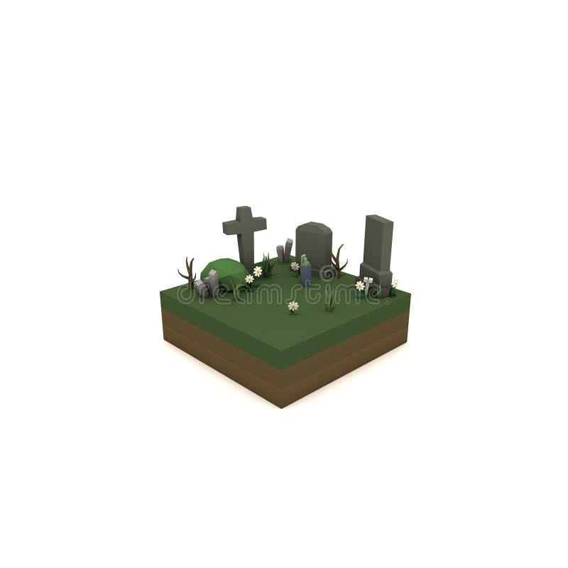 Download Cementery stock illustratie. Illustratie bestaande uit eenvoudig - 107702957