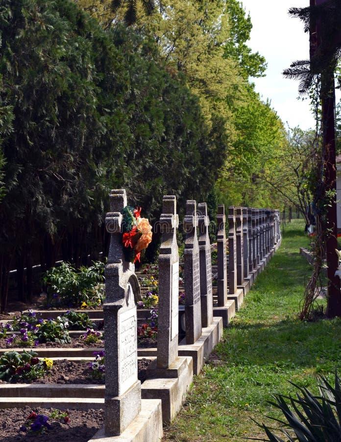 Cementery do padre no monastério Timisoara da caída fotografia de stock royalty free