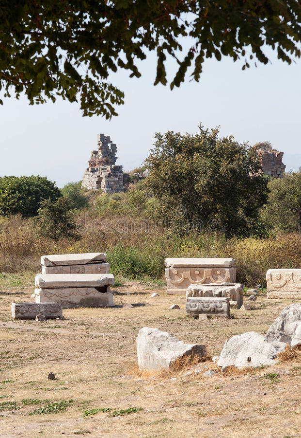Cementery Em Ephesus Fotografia de Stock