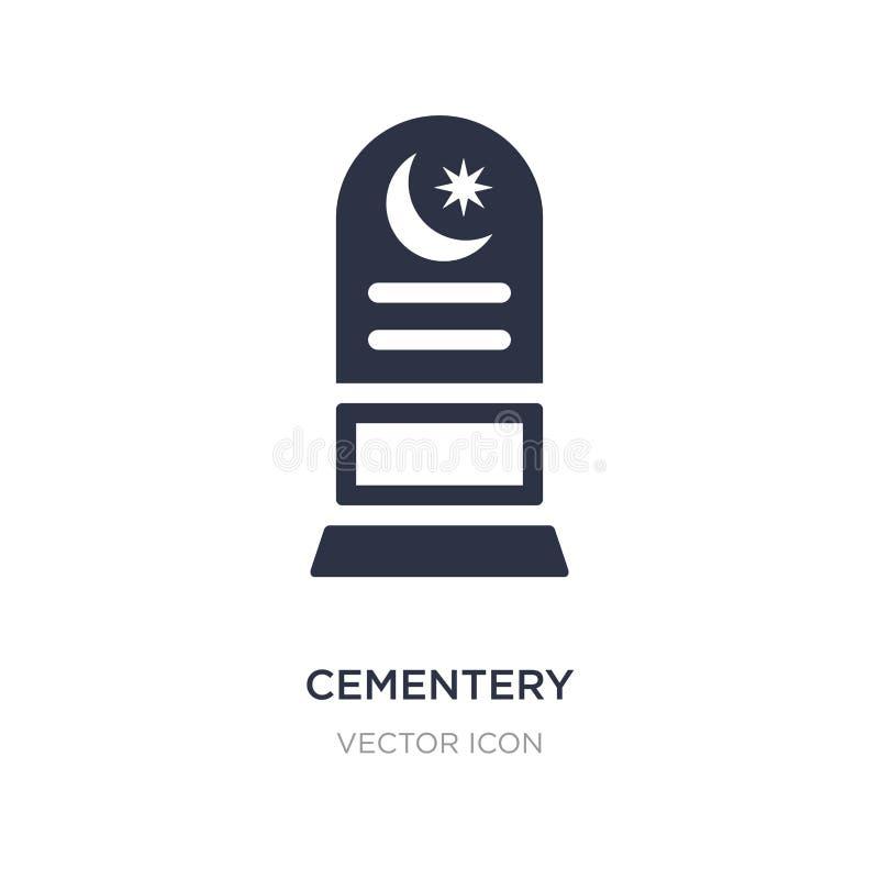 cementery ikona na białym tle Prosta element ilustracja od miasto elementów pojęcia ilustracja wektor