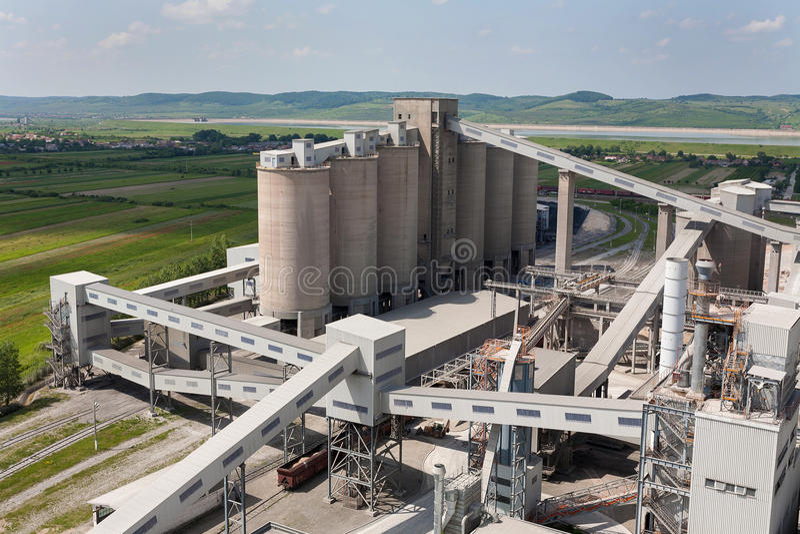 Cementfabriek royalty-vrije stock foto