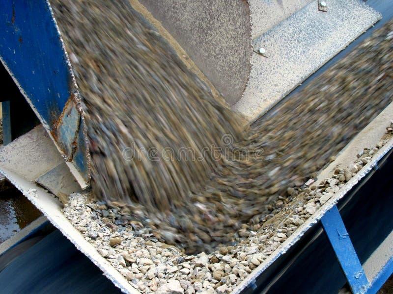 cementfabrik arkivbild