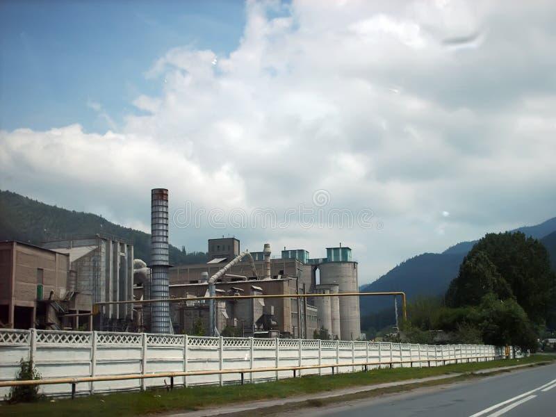 cementfabrik royaltyfria foton