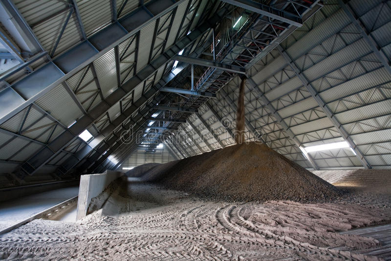 cementfabrik royaltyfri bild