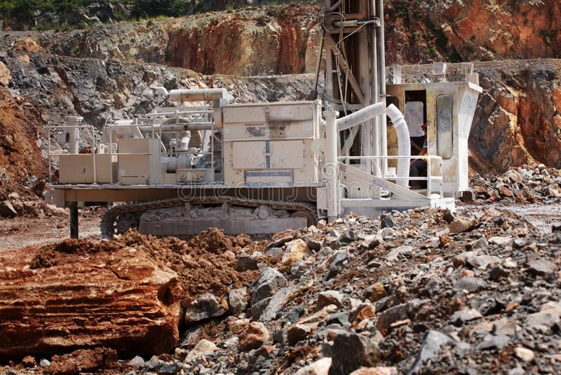 Cementfabriksarbetare arkivfoton