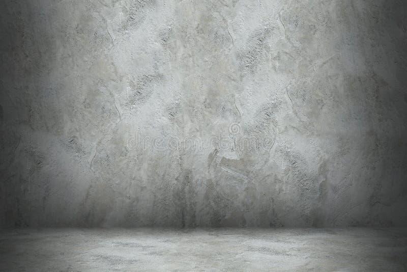 cementmuur en vloer met schaduw voor ontwerp royalty-vrije stock foto's