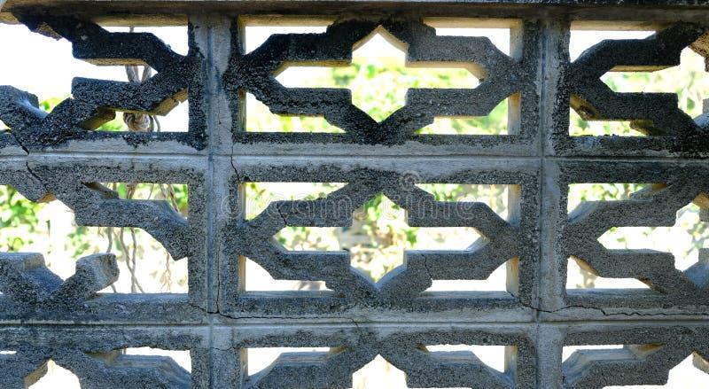Cementmuur voor behang, Gat in de concrete muur royalty-vrije stock foto