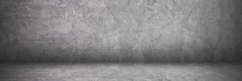 cemento e muro di cemento e pavimento orizzontali con ombra per PA fotografia stock