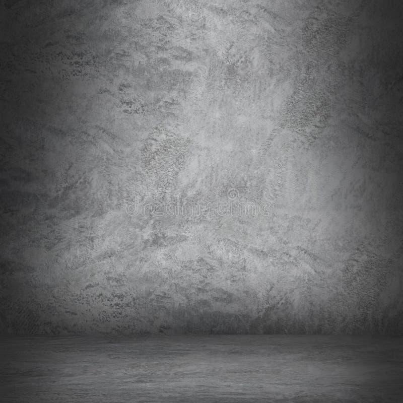 cementowa ściana i podłoga z cieniem dla wzoru i projekta obrazy royalty free