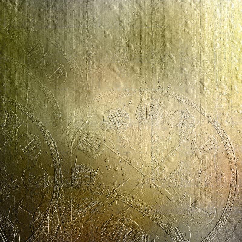 Cementowa ściana z reliefowego wzoru kolorowym clockwork ilustracji