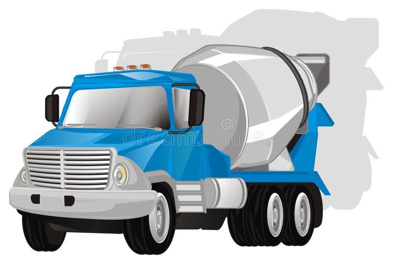 Cementowa ciężarówka z cieniem royalty ilustracja