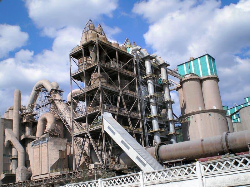 cementowa fabryka zdjęcia royalty free