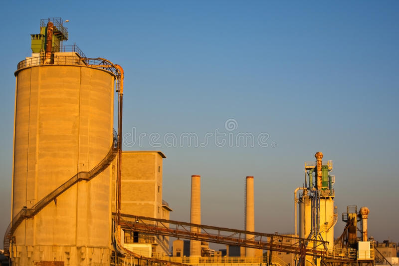 Cementowa fabryka obraz stock