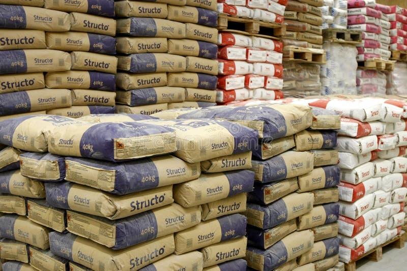 cementowej budowy wydziałowy materiałów sklep fotografia stock