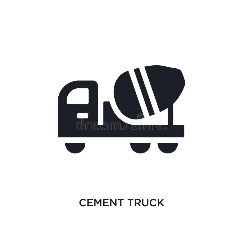 cementowej ciężarówki odosobniona ikona prosta element ilustracja od budowy pojęcia ikon cementowy ciężarowy editable logo znaka  royalty ilustracja