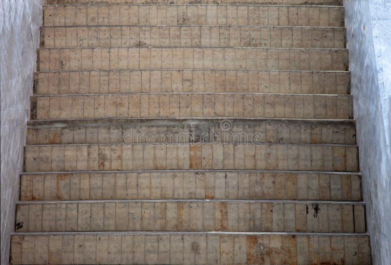 cementowy schodowy krok od topview obrazy royalty free