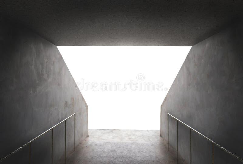Cementowy tunel w stadium ilustracji