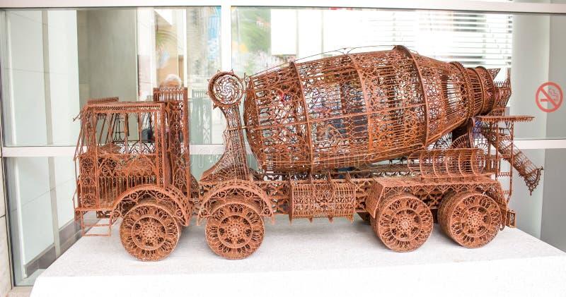 Cementvrachtwagen royalty-vrije stock afbeelding