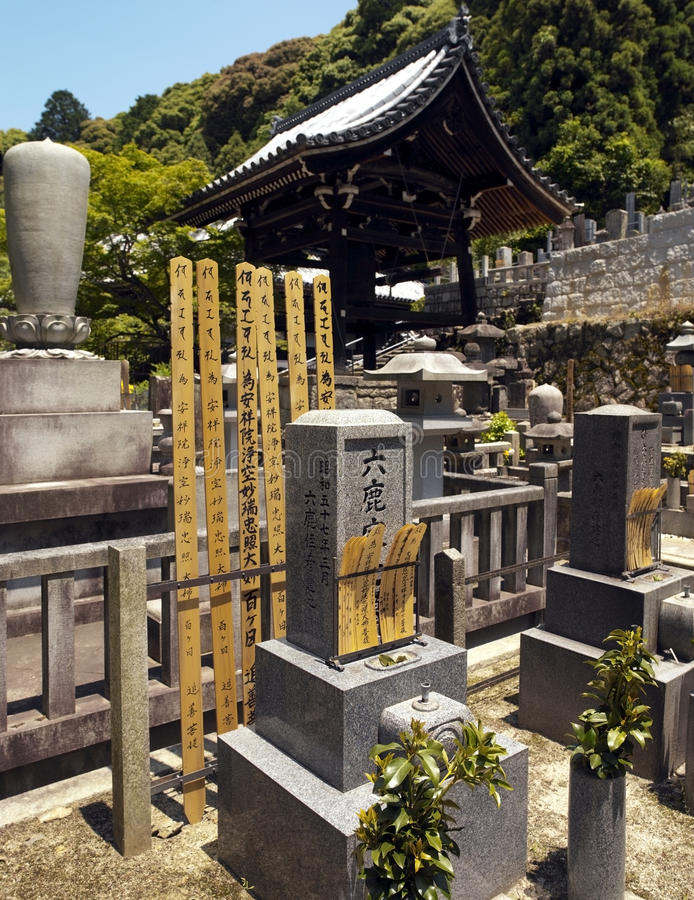 Cemetary at Eikando Temple - Kyoto - Japan royalty free stock photo