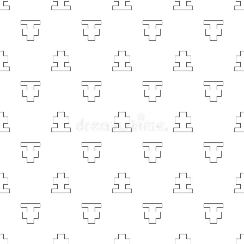 Cemetary grave cross thinline seamless pattern illustration. Cemetary grave cross thinline seamless pattern illustration vector illustration