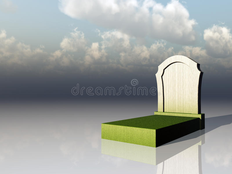 Download Cemetery stock illustration. Image of rest, undertaker - 13799376