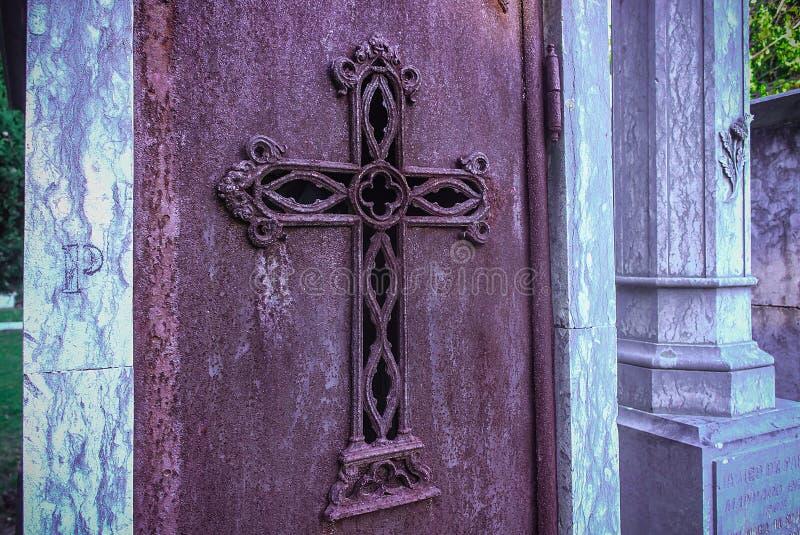 Cemetery of Alto de Sao Joao. Lisbon royalty free stock image