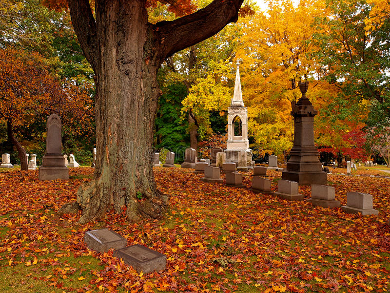 Download Cemetery in autumn stock image. Image of buried, autumn - 18558425