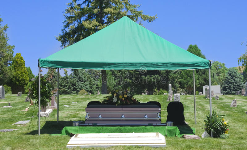 Download Cemetery Burial Funeral Casket Stock Photo - Image: 10955968