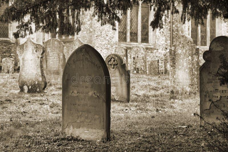Cemetery in Burwell stock photos