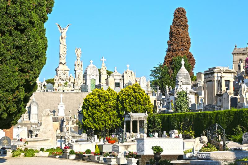 A cemetery on Castle Hill in NIce, France royalty free stock photo