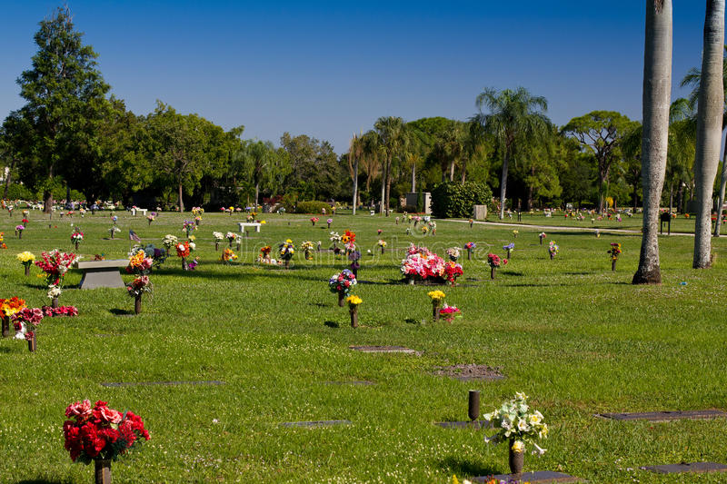 Download Cemetery With Colorful Flowers Stock Image - Image: 21978921