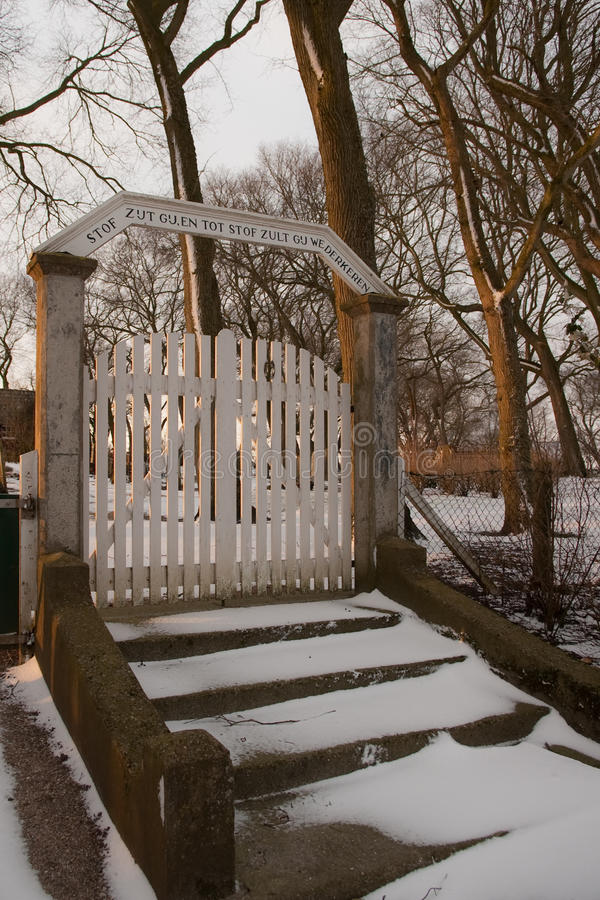 Cemetery gate royalty free stock images
