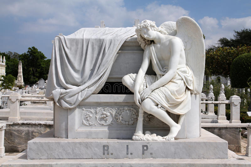 Cemetery in Havana stock photography