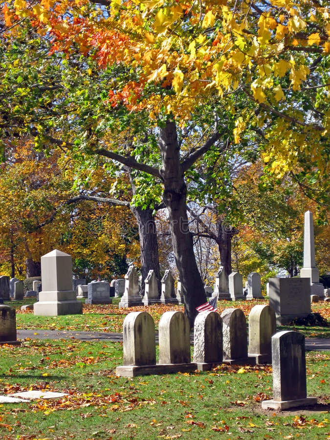 Free Cemetery In Autumn 16 Royalty Free Stock Image - 1454366
