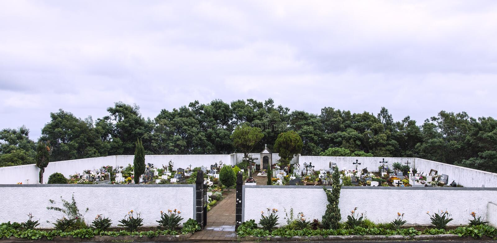 Cemetery on the island of Madeira. a place of peace, quiet, reflection and remembrance and commemoration. stock photos